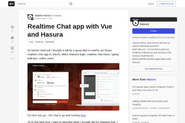 Realtime Chat App With Vue And Hasura