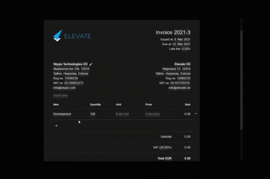 Serverless Invoices
