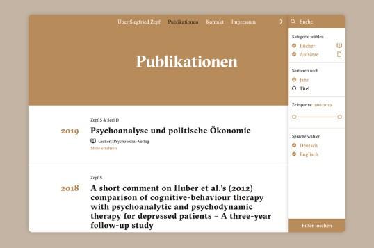 Siegfried Zepf Publikationen
