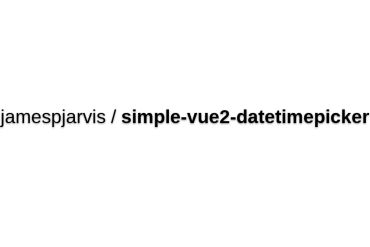 Simple-vue2-datetimepicker