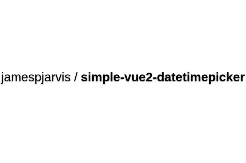 Simple-vue2-datetimepicker