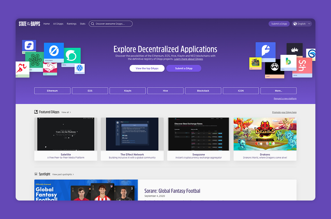 State of the DApps