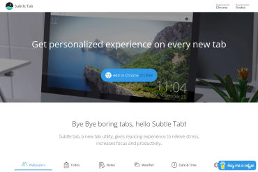 Subtletab - Browser Extension
