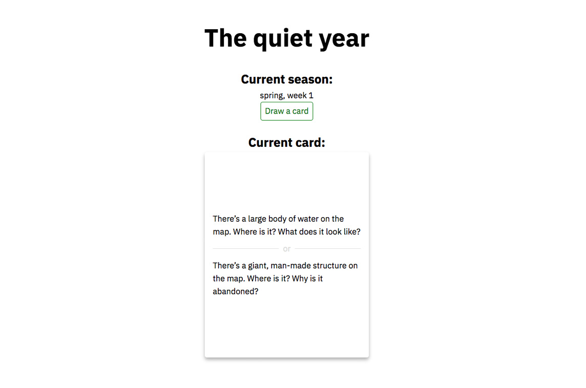 The Quiet Year