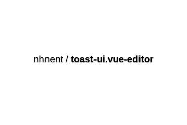 Toast-ui.vue-editor