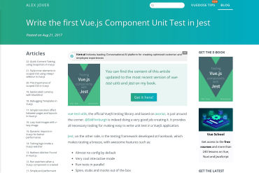 Unit Testing Vue.js Components With The Official Vue Testing Tools And Jest