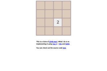 Vue 2048 (Vue + Webpack)