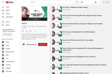 Vue 3 Video Playlist