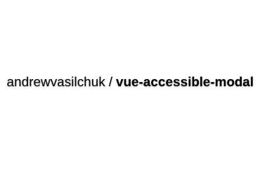 Vue-accessible-modal
