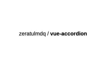 Vue-accordion