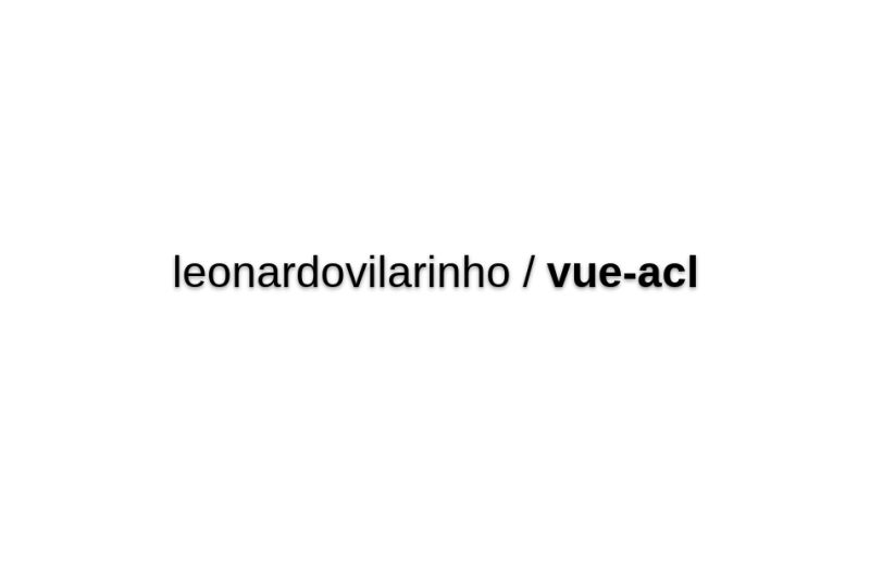 Vue-acl