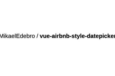 Vue-airbnb-style-datepicker