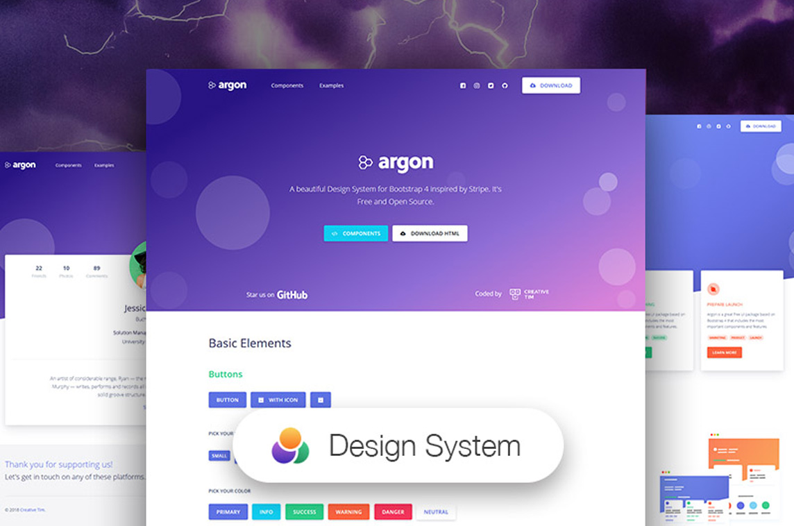 Vue Argon Design System
