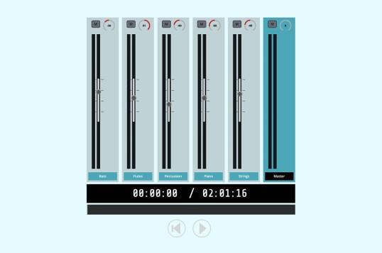 Vue Audio Mixer
