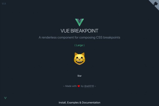 Vue Breakpoint Component