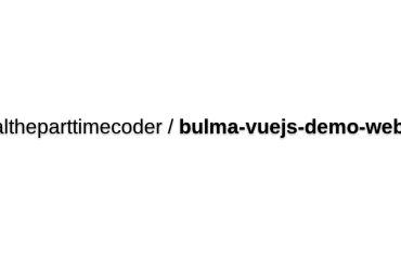 Vue Bulma Demo