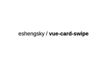 Vue-card-swipe