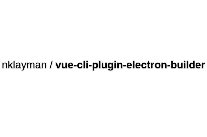 Vue-cli-plugin-electron-builder