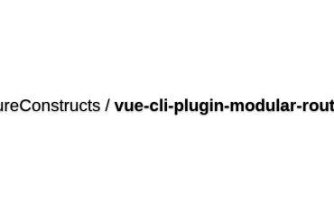 Vue-cli-plugin-modular-router