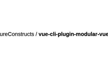 Vue-cli-plugin-modular-vuex