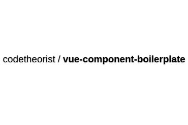 Vue-component-boilerplate