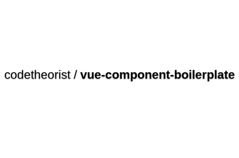 Vue-component-boilerplate