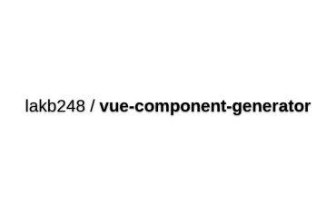 Vue-component-generator