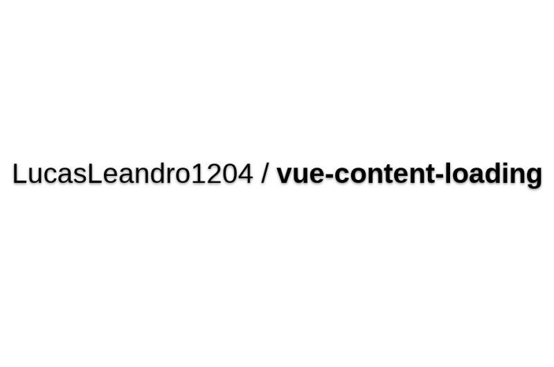Vue-content-loading