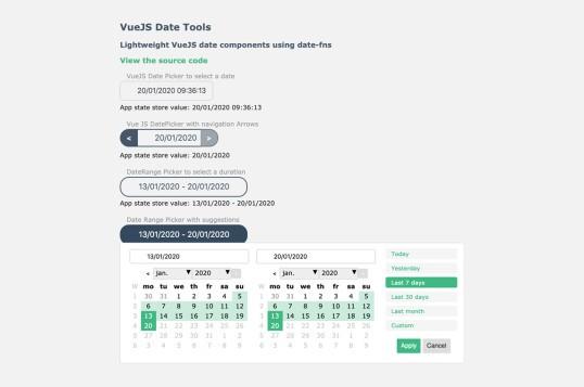 Vue Date Tools