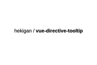 Vue-directive-tooltip