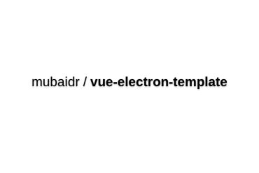 Vue-electron-template