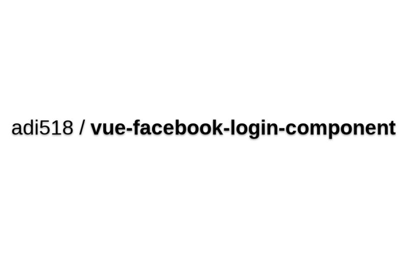 Vue-facebook-login-component