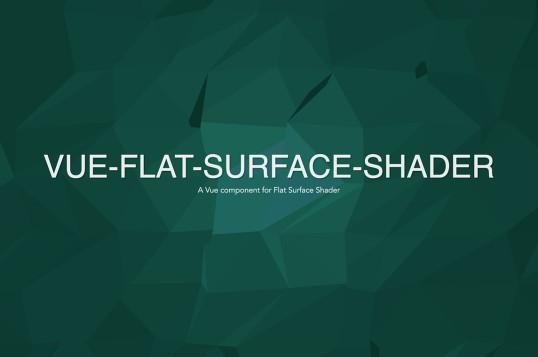 Vue Flat Surface Shader