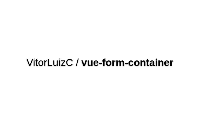 Vue-form-container