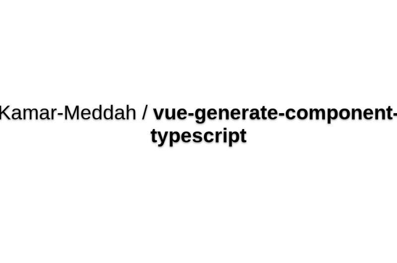 Vue-generate-component-typescript