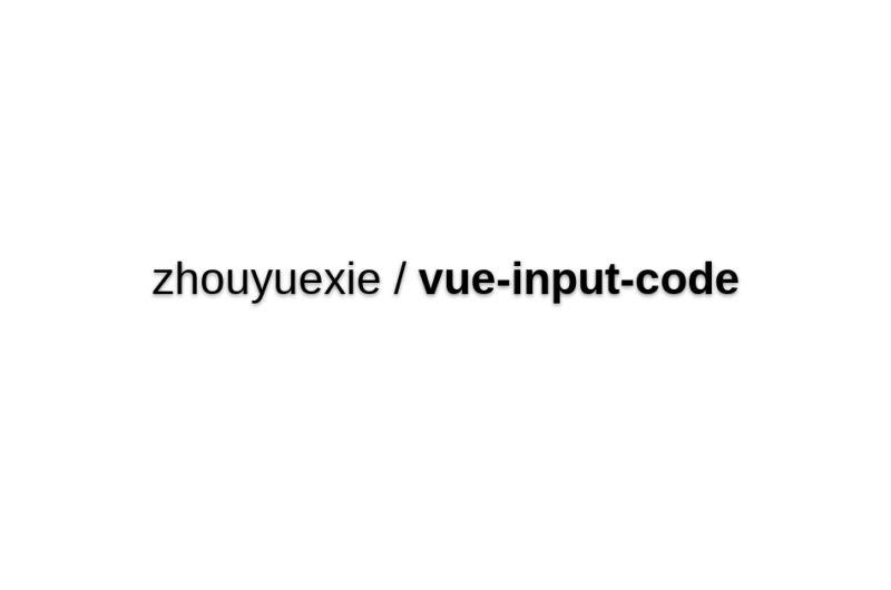 Vue-input-code