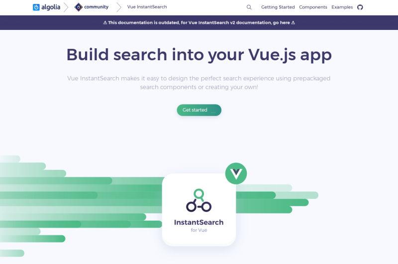 Vue-instantsearch