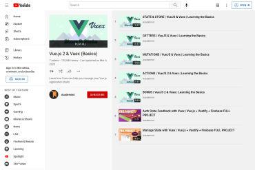 Vue.js 2 & Vuex (Basics)