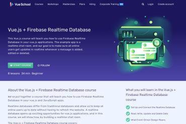 Vue.js Firebase Realtime Database