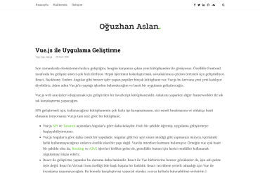 Vue.js Introduction Turkish Language