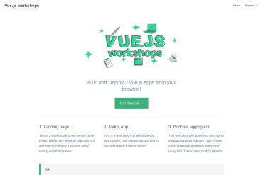 Vue.js Workshops