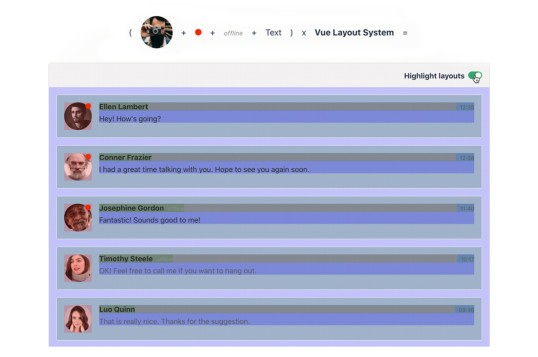 Vue Layout System
