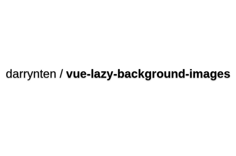 Vue-lazy-background-images