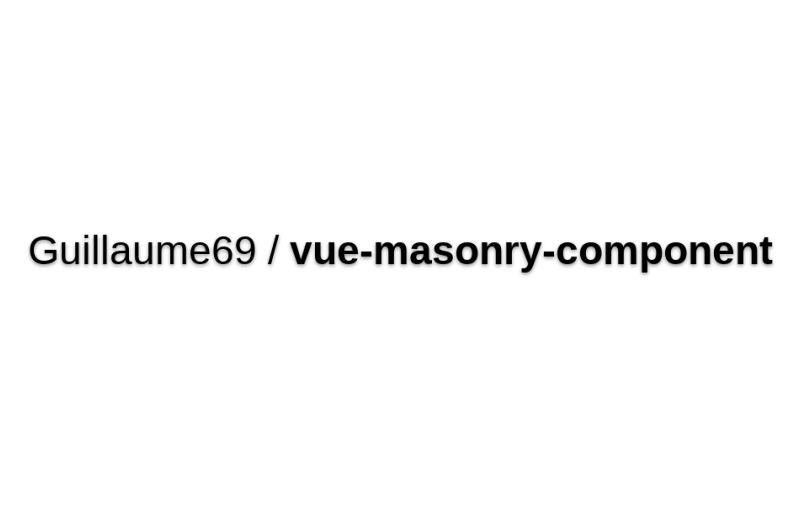 Vue-masonry-component
