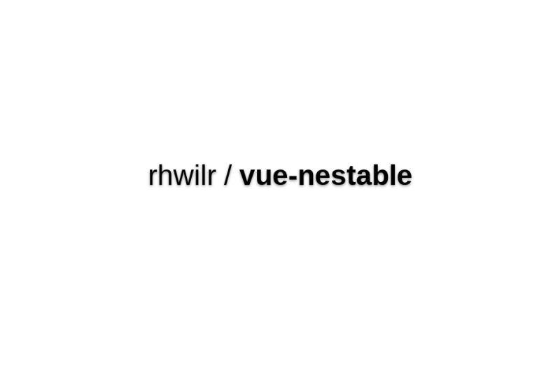 Vue-nestable