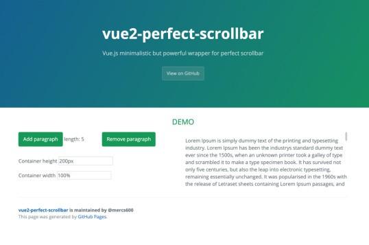 Vue Perfect Scrollbar