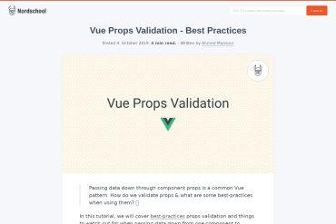 Vue Props Validation - Best Practices