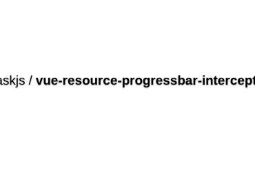 Vue-resource-progressbar-interceptor