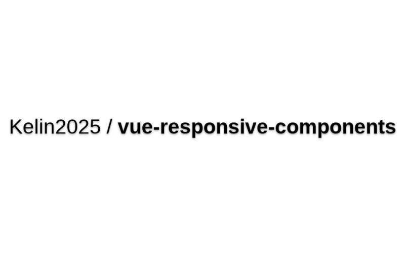 Vue-responsive-components