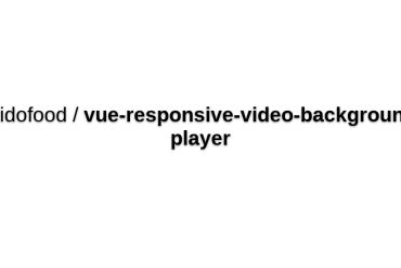 Vue-responsive-video-background-player